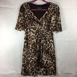 Muse Flutter Sleeve Leopard Dress